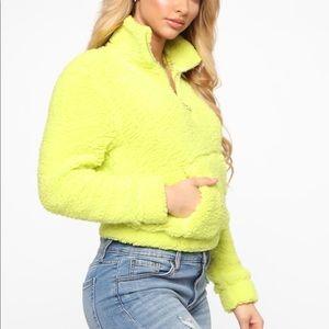 Fashion Nova -  Warming Me Up Sherpa Pullover